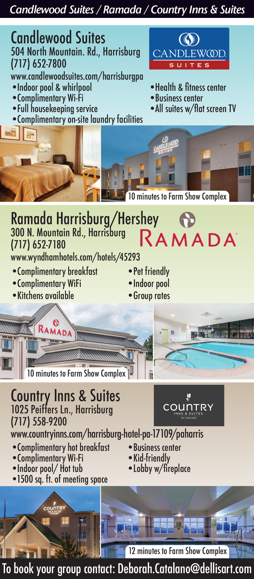 Candlewood Suites, Ramada Inn and Country Inn